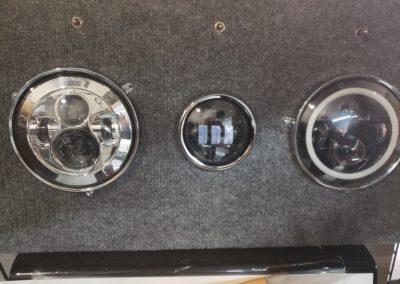 headlight and passing light display